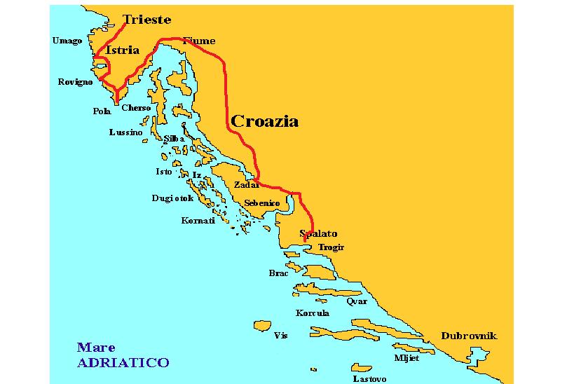 Cartina ISTRIA ET DALMATIA